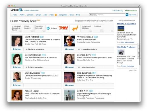 LinkedIn оновлює секцію «People You May Know»