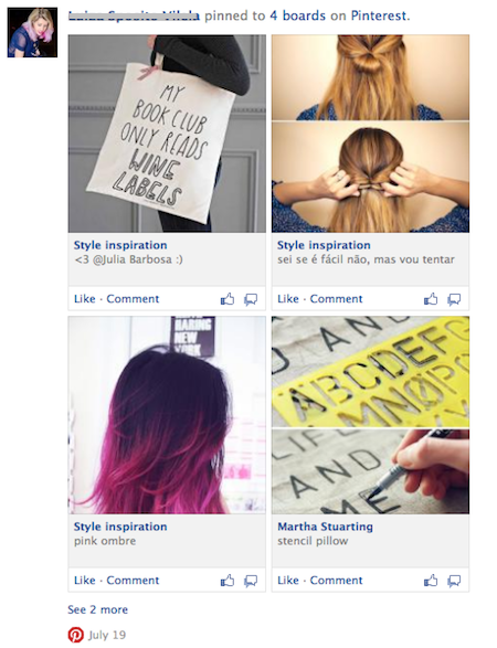 Facebook тестує схожий на Pinterest дизайн для активностей додатків