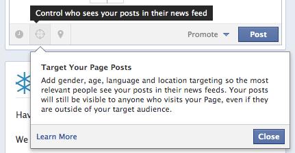 Facebook сторінки, які мають більше 5000 лайків, отримають нові опції таргетування публікацій
