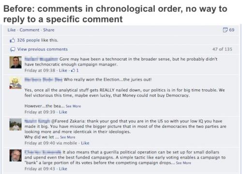 Facebook змінює систему коментарів