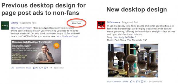 Нові Facebook page post ads приносять менше лайків сторінці