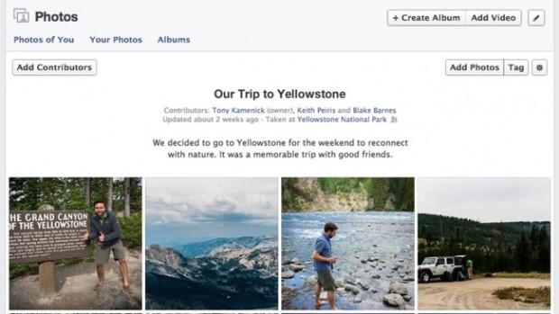 Facebook запускає спільні альбоми