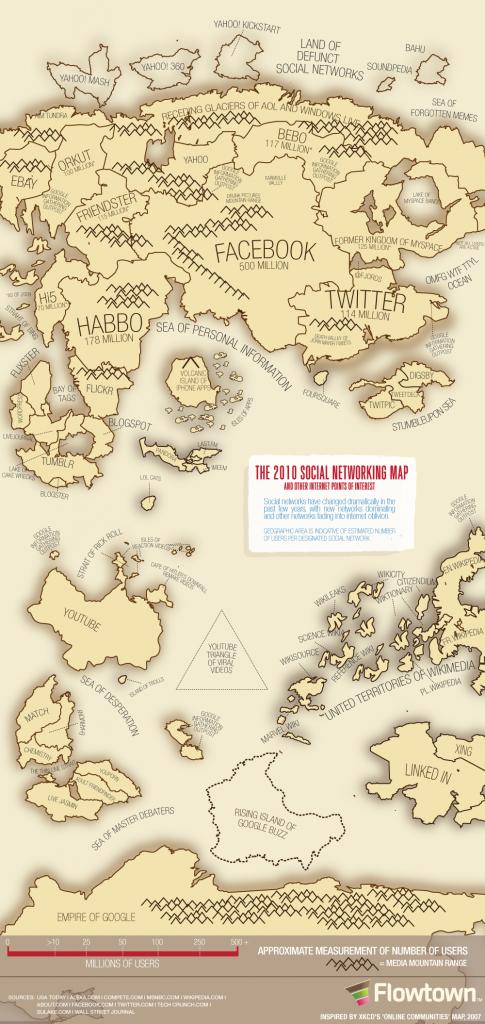 Карта соціальних мереж 2010