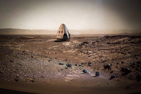 Маск планує у 2018 році запуск космічного корабля Red Dragon на Марс