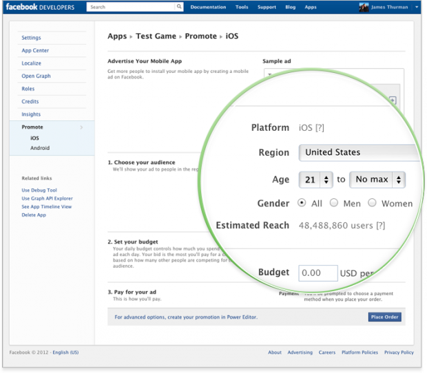 Facebook тестує мобільну рекламу iOS та Android додатків