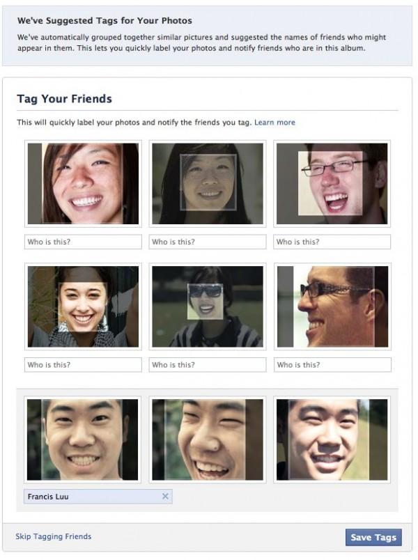 Facebook запустив функцію розпізнавання облич на фото