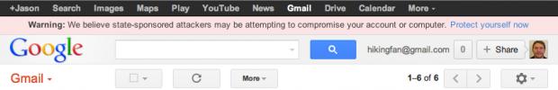 Google буде попереджати про підозрілі атаки на екаунти з боку держав