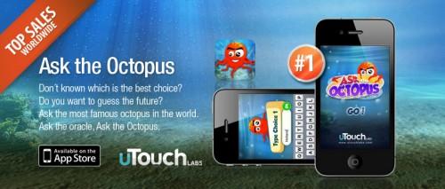 Для восьминога Пауля випустили iPhone додаток