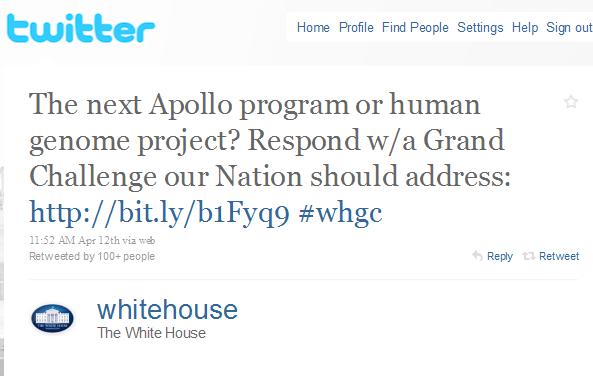 Білий Дім через Твітер запитується куди рухатись американській науці