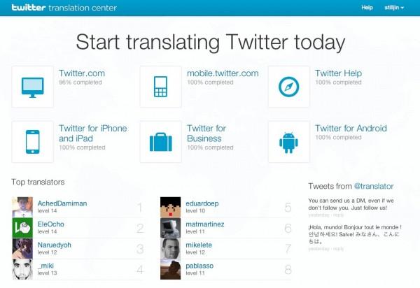 Twitter перекладе свій сайт за допомогою користувачів