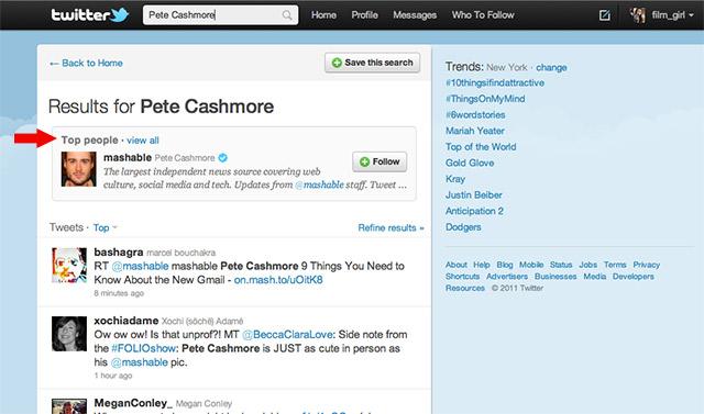 Twitter тестує функції Top News i Top People