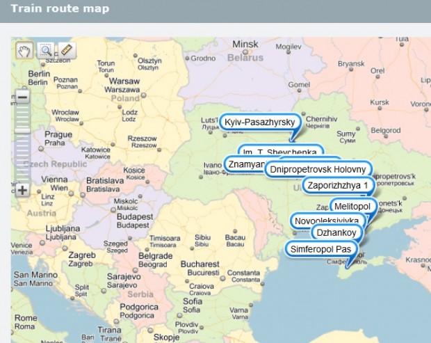 Укрзалізниця вважає, що Крим – це територія Росії (оновлено)
