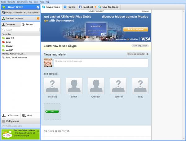 Skype увімкне рекламу для своїх користувачів