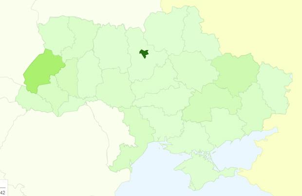 Google Analytics почав показувати на картах відвідуваність по областях і містах