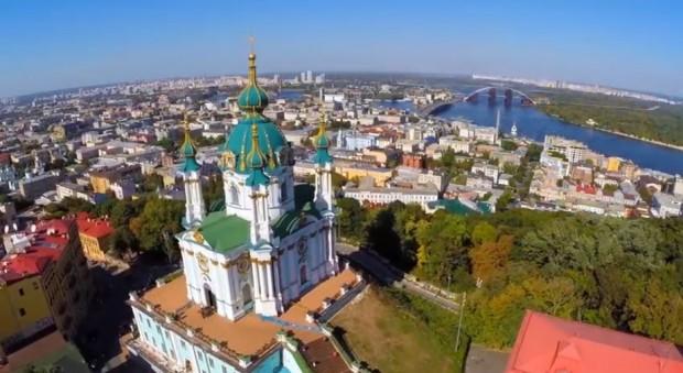 Неймовірне відео Києва з висоти пташиного польоту, зняте літаючим дроном