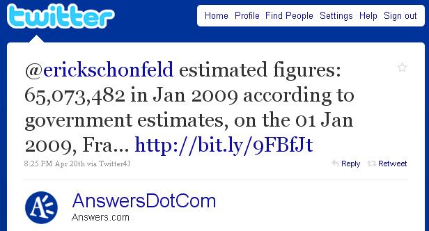 Answers.com буде давати відповіді через Twitter