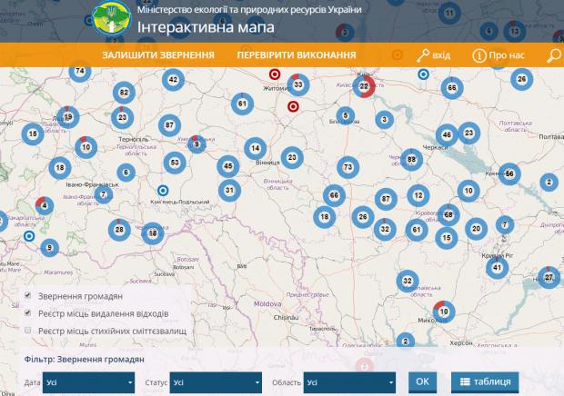 В Україні запустили інтерактивну карту сміттєзвалищ