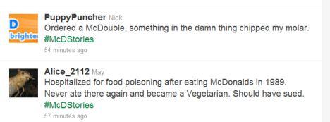 Рекламна кампанія МакДональдз у Twitter провалилася через #McDStories