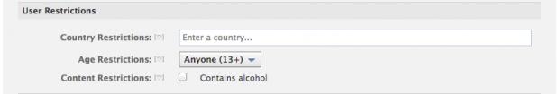 Facebook розробники тепер можуть накладати обмеження за віком та країною для Open Graph