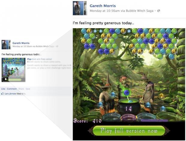 Facebook запускає ігри в стрічці новин