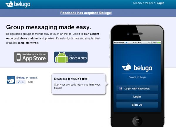 Facebook придбав «Белугу»
