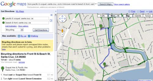 На Google Maps зявились велосипедні маршрути