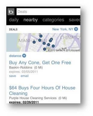 Bing запустив пошук по знижках