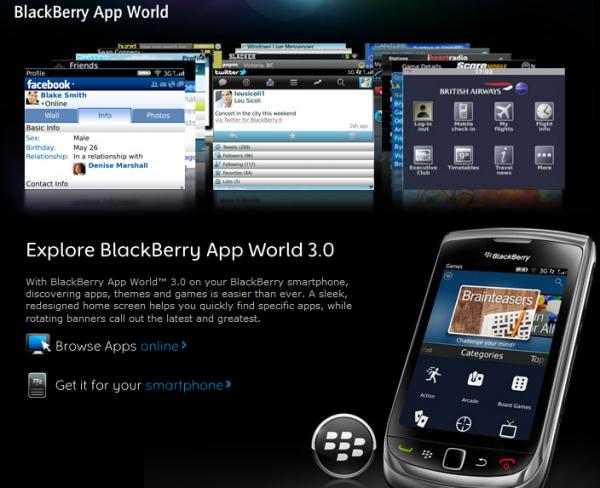 Магазин додатків BlackBerry App World відкрився для українських абонентів МТС