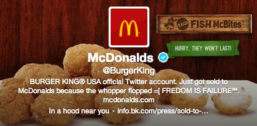 Твітер Burger King зламали і перейменували в McDonalds