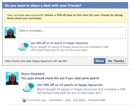 Facebook запустив нові сервіси для системи Facebook Credits (виправлено)