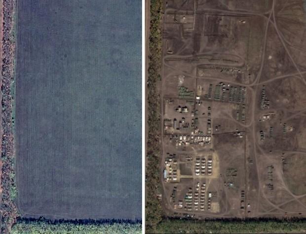 Журналісти знайшли на Google Maps головну російську базу з технікою для війни в Україні