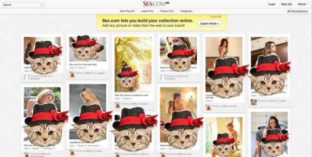 Sex.com запустив порно клона Pinterest
