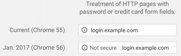 Google Chrome почав попереджати про небезпечні HTTP сторінки