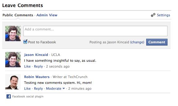 Facebook запустив нову систему коментарів для зовнішніх сайтів