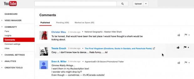 YouTube повернув центр управління коментарями