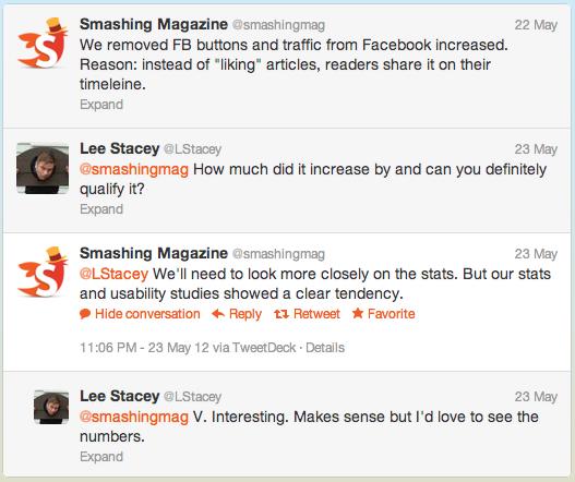Smashing Magazine відмовився від кнопки Like