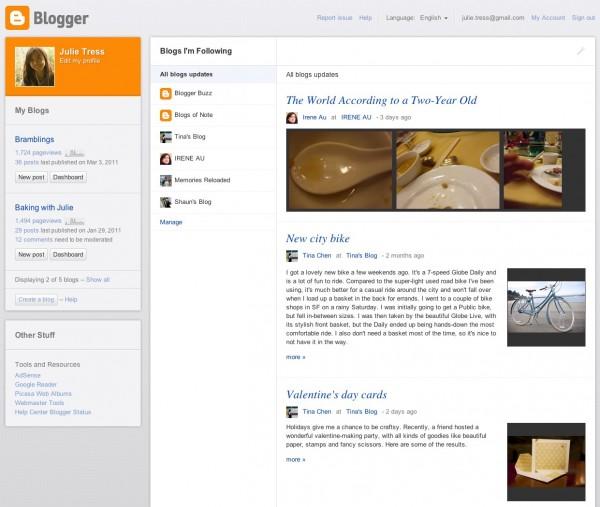 Блог сервіс Blogger очікує масштабний редизайн