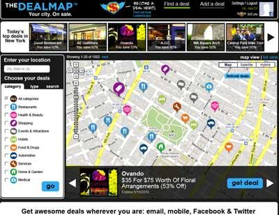 Google придбав сервіс групових знижок Dealmap