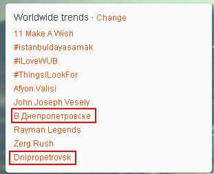 Вибухи в Дніпропетровську вийшли в світові тренди твітера