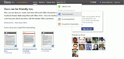 Microsoft у співробітництві з Facebook запустила Docs.com
