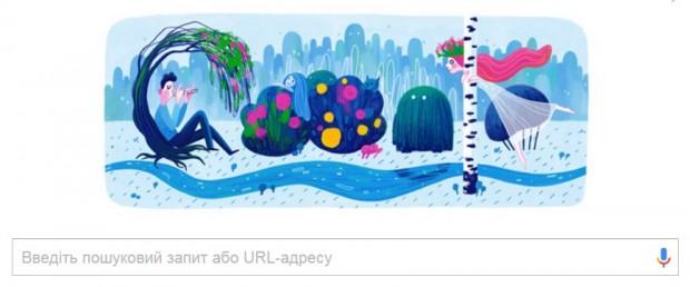 Google змінив свій логотип на честь Лесі Українки