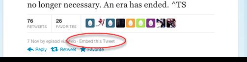Твіти можна буде вставляти на сторонніх сайтах