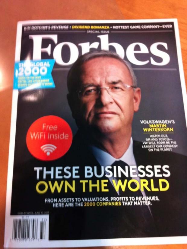 В американський спецвипуск Forbes вбудували точку доступу