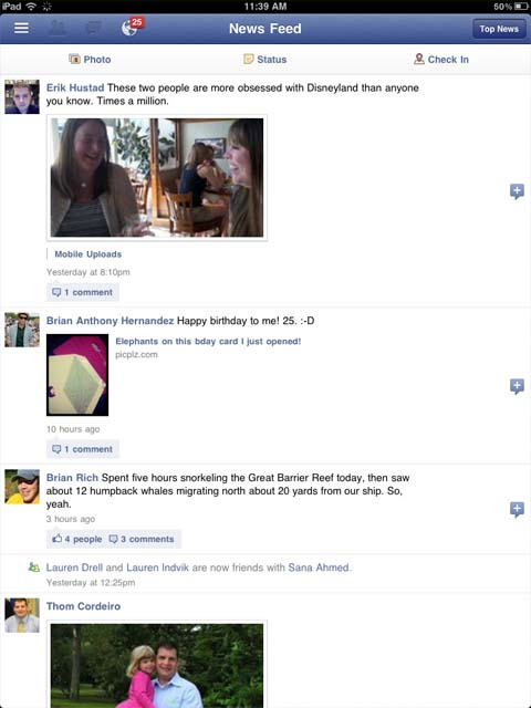 В інтернет потрапили знімки Facebook додатку для iPad