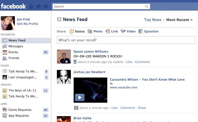 Facebook запускає лівосторонню навігацію