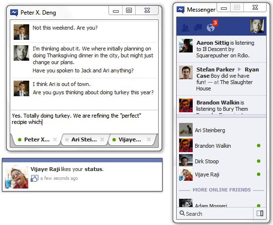 Facebook запустив Messenger для Windows 7