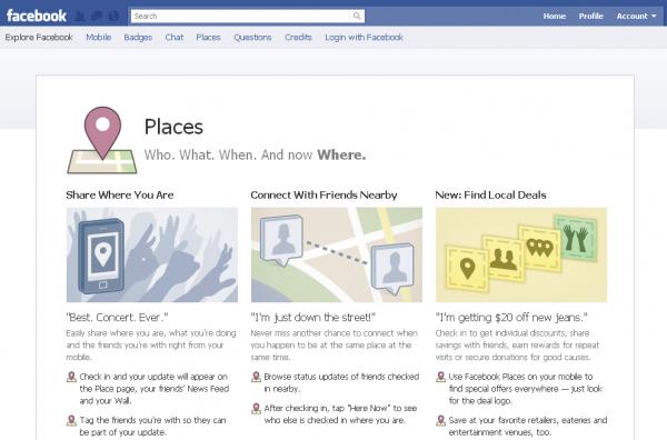 Facebook Places став доступним в Україні