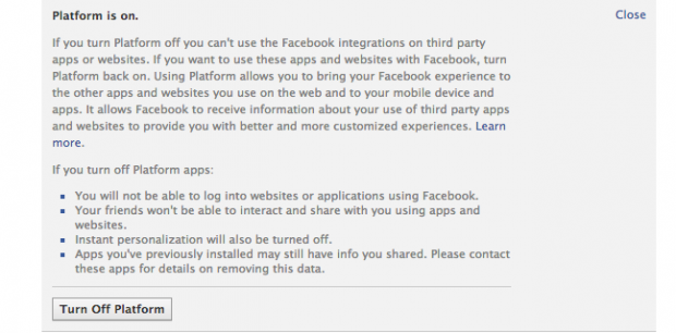 Як у два кліки відімкнути Facebook від усіх додатків