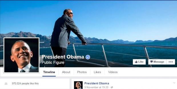 У президента США нарешті з'явилася офіційна сторінка у Facebook