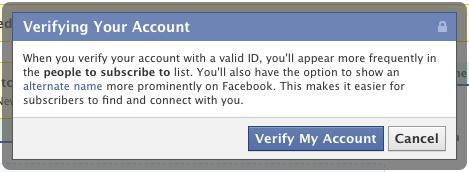 Facebook запустив верифіковані екаунти і псевдоніми